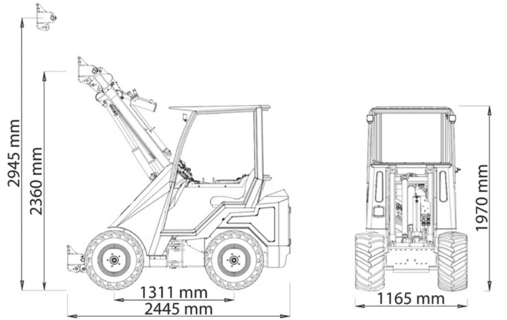 Cast loaders 23t dimensions
