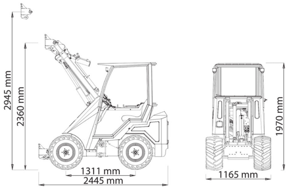 Cast Loaders 28t dimensions