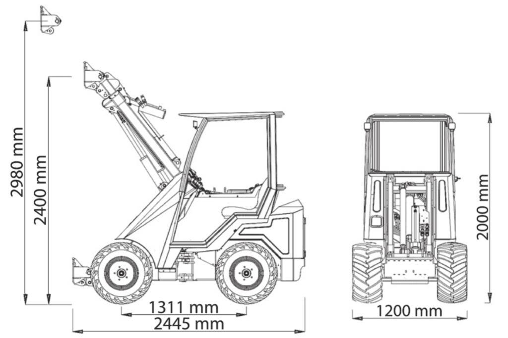 Cast Loaders 33t dimensions