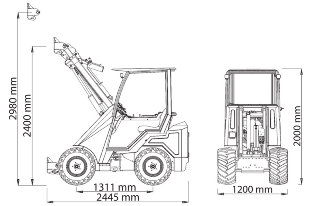 Cast Loaders 33tlx dimensions